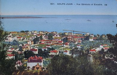 Historic view of Golfe Juan Copyright Info-Riviera.co.uk